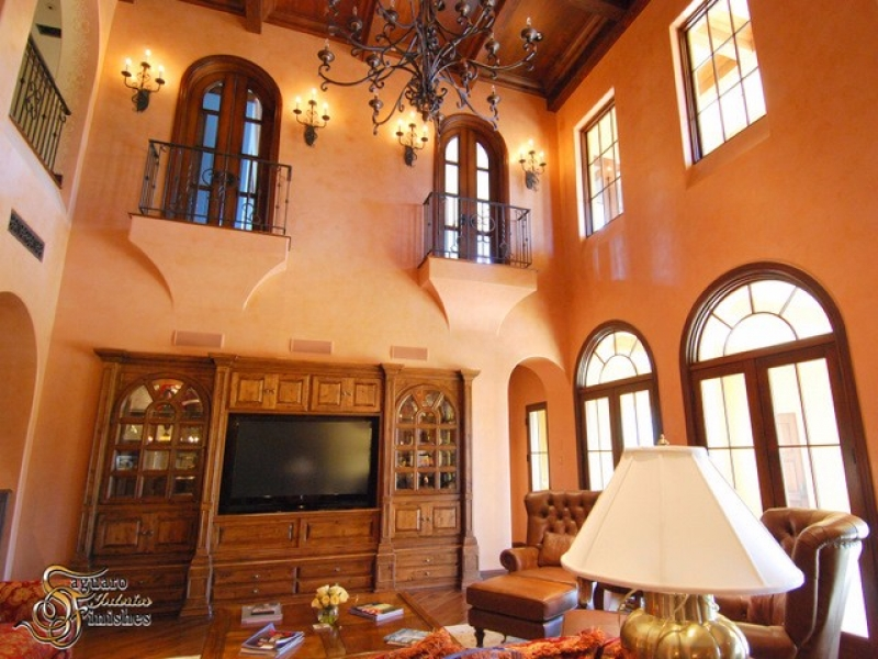 Gorgeous interior with custom drywall arches and Venetian plaster finishes