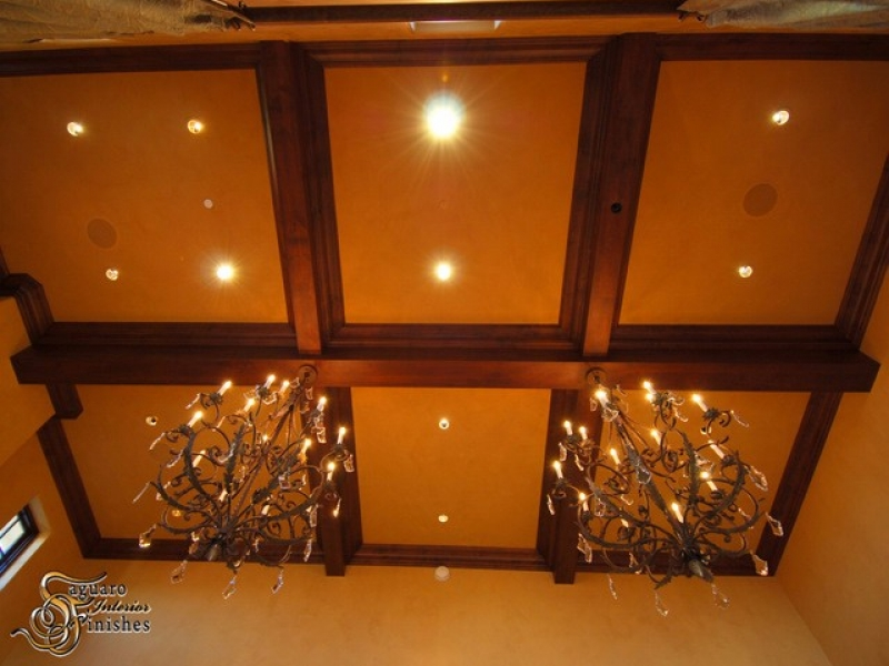 Custom coffered ceiling