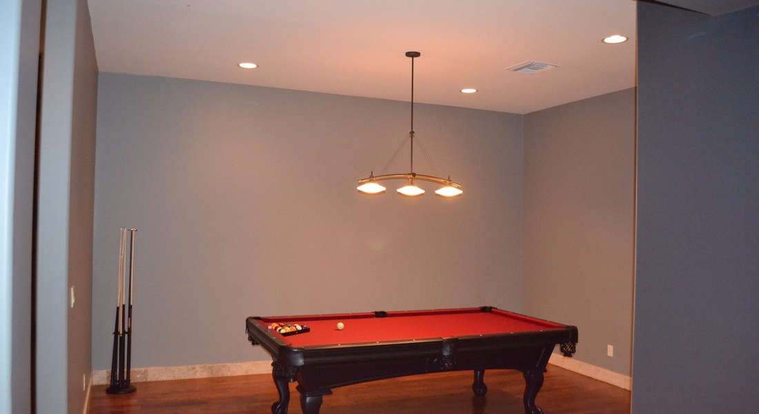 rec room custom interior paint
