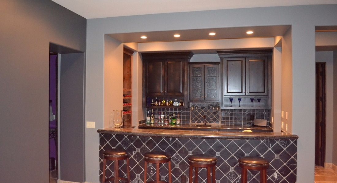 custom interior painting in bar area