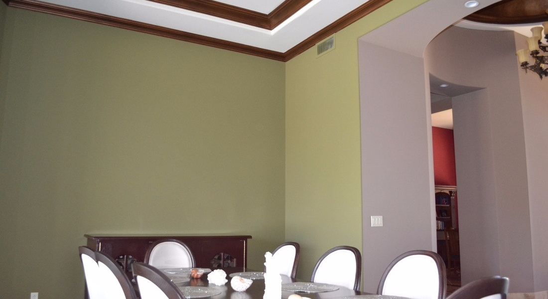 custom interior paint and crown molding