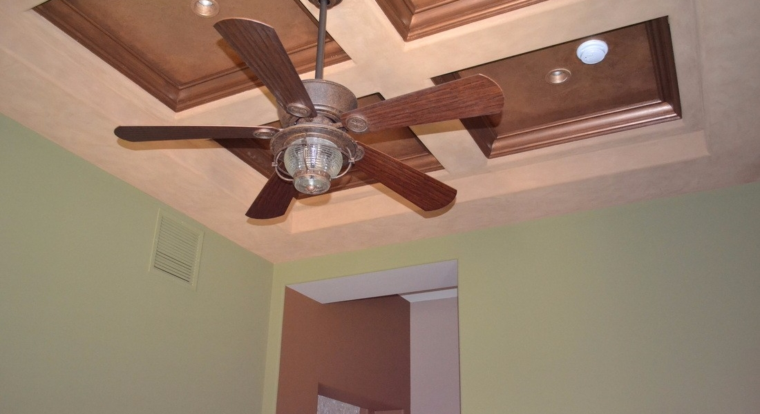 custom living room ceiling paint detail