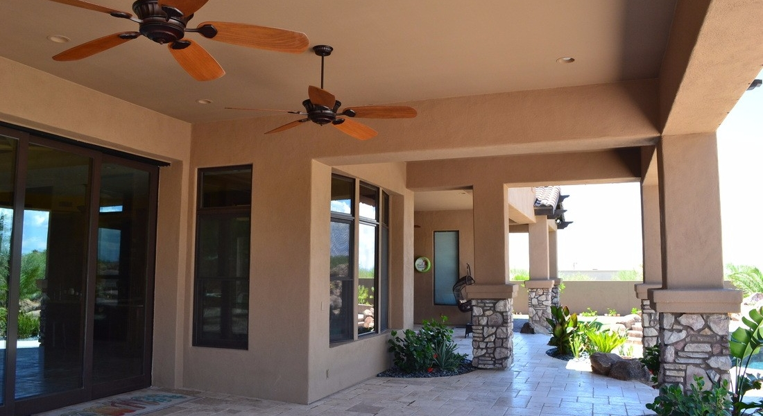 custom home exterior repaint