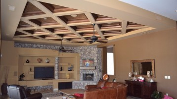 custom painted living room ceiling