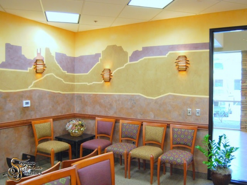 Desert mural in medical lobby