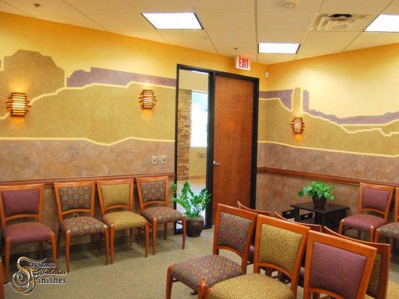 Desert mural in medical lobby