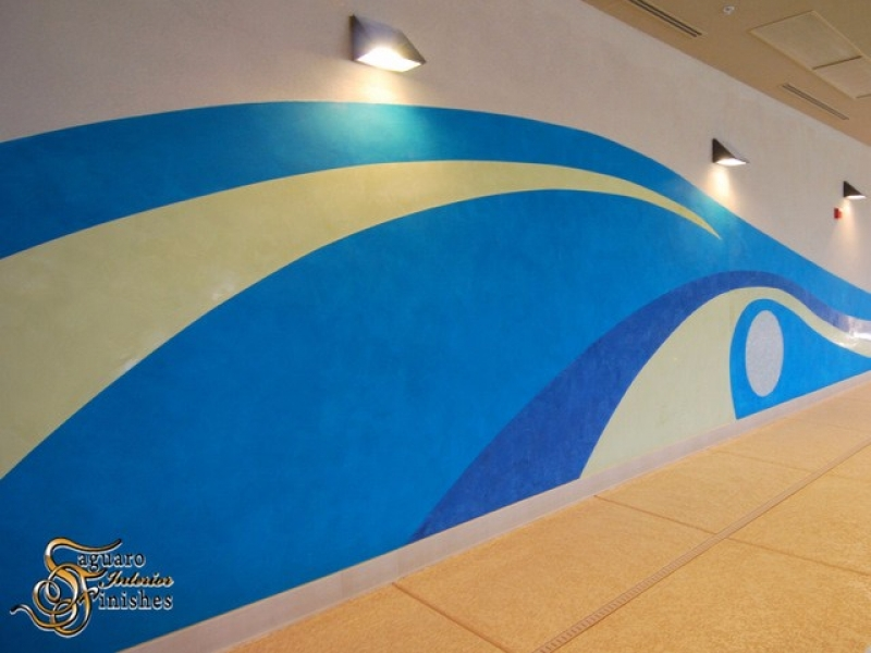 Cantamia Community Center Pool Mural detail